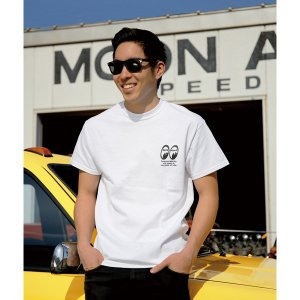Photo1: MOON Checker Flag T  Shirts