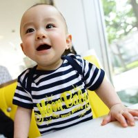 MOON Stripe Baby Rompers