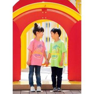Photo1: Kids & Ladies MOON Neon Sign T-Shirt