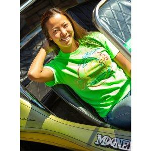 Photo2: Kids & Ladies MOON Neon Sign T-Shirt