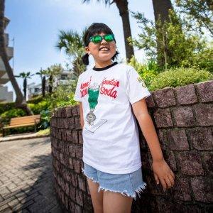 Photo1: Kids MOON Cafe Cream Soda Trim T-shirt