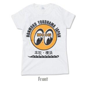 Photo2: MOON EYEBALL Honmoku - Yokohama Ladies T-Shirt