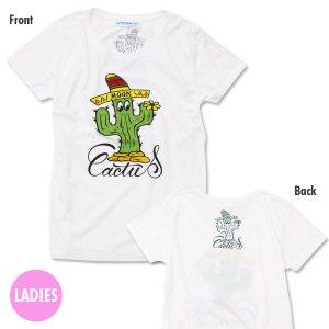 Photo3: Ladies MOON Cactus T-shirt
