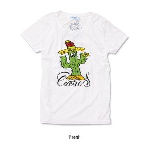 Photo4: Ladies MOON Cactus T-shirt