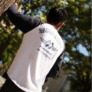 Photo1: FLY with MOON Raglan 3/4 Sleeve T-Shirt