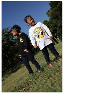 Photo1: Kids & Ladies MOON Long Sleeve T-Shirt