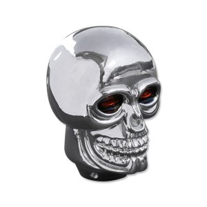 Photo1: Plastic Skull Shift Knob Chrome
