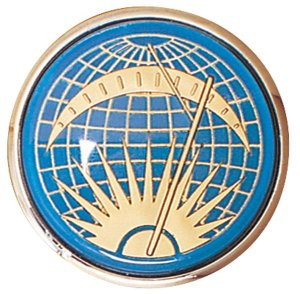 Photo1: Sun & Moon Horn Button