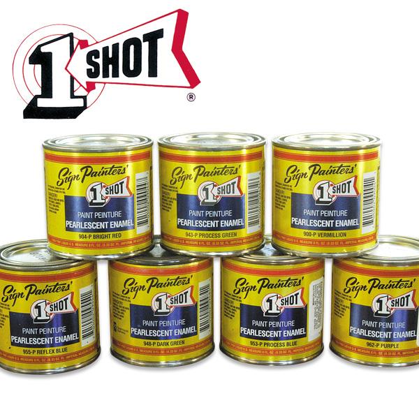 1 Shot Pearlescent Enamels (236 ml) (10 Colors*) [IG1S]
