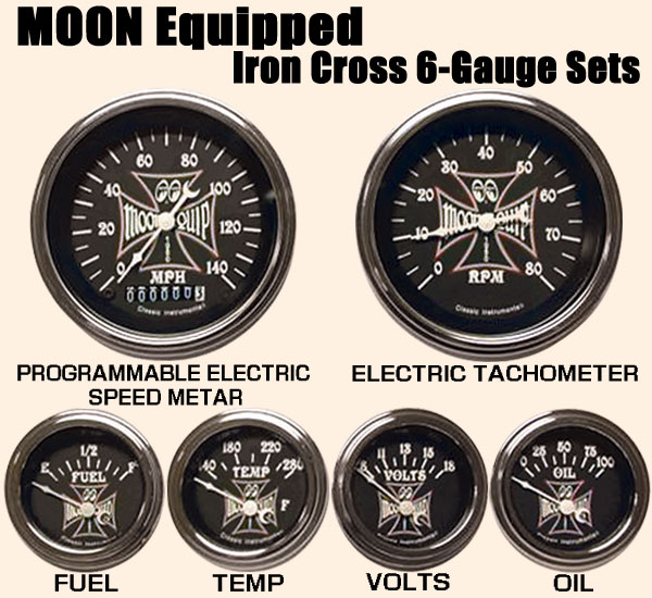 c1121f8e63 moon equipped iron cross 6 gauge set mooneyes tach wiring diagram at gsmx.co