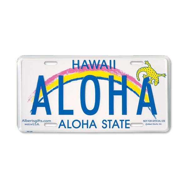 Hawaii License Plates ALOHA