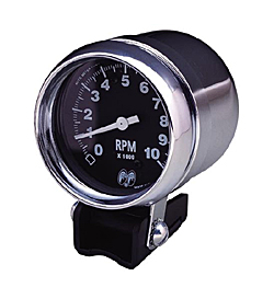 mpg2893 2 mooneyes &moon equipped auto meter tachometer black face 4cycle mooneyes tach wiring diagram at gsmx.co