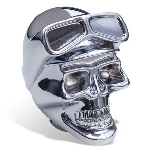 Photo: Chrome Shift Knob Skull with Goggles