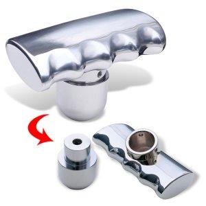 Photo: Chrome T Shift knob