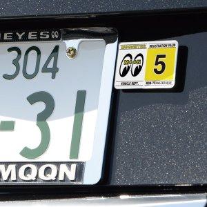 Photo: MOONEYES Registration Stickers