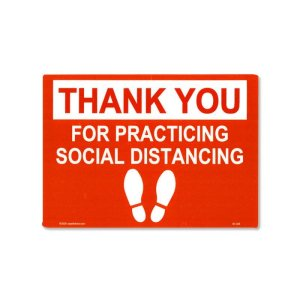 Photo: Thank You Social Distancing Sticker