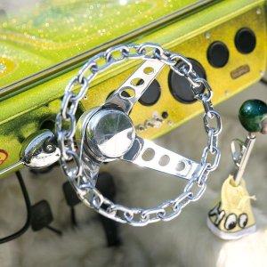 Photo: Chromed Plated  Chain link 3 Spoke 25cm
