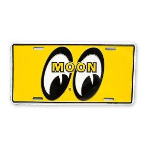 Photo: MOONEYES California Steel License Plates Yellow Eyes
