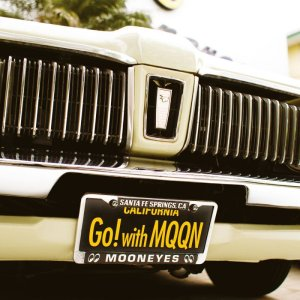 Photo: MOONEYES California Steel License Plates Go! with MQQN