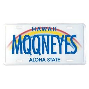 Photo: MOONEYES Hawaii License Plate