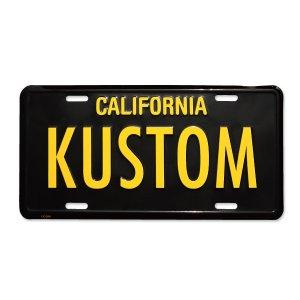 Photo: MOONEYES California Steel License Plates KUSTOM