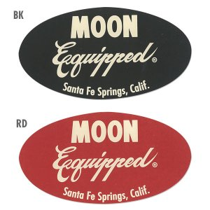 Photo: MOON Equipped Oval Sticker