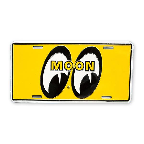 Photo1: MOONEYES California Steel License Plates Yellow Eyes (1)